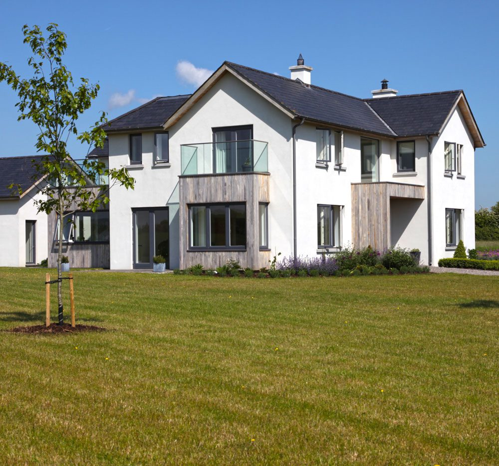 The owners of this rural farm in county Kildare approached us to design their new family home.