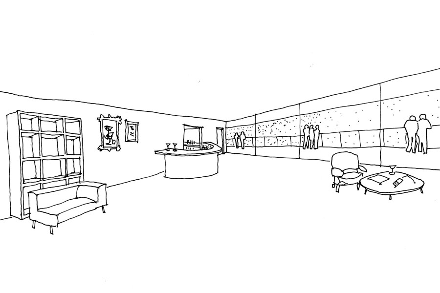 design concept for the future expansion for a local tennis club in Wicklow Town.