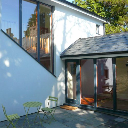 A 2-storey extension to an existing cottage close to Woodenbridge