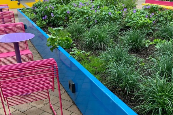 coutyard garden design that improves mental health